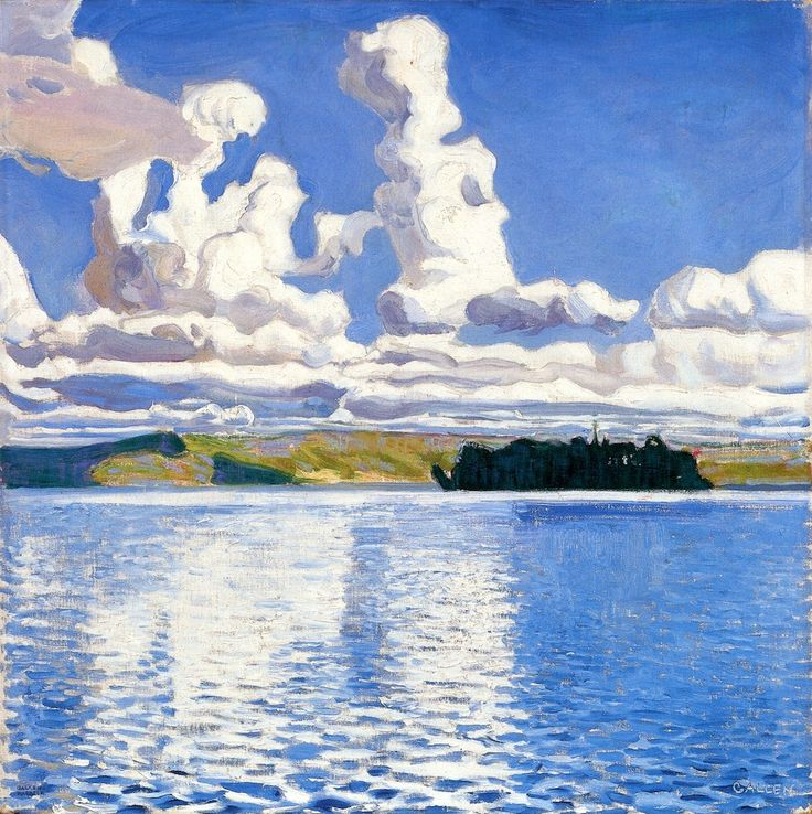 Akseli Gallen-Kallela, | 1865-1931-Cloud Towers 1904