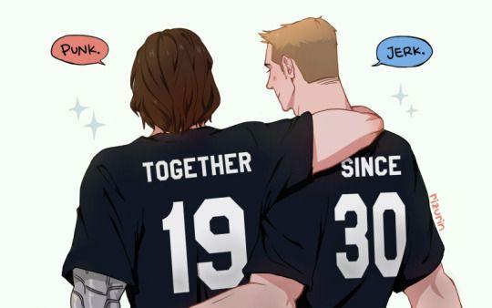 Captain America (MCU) - Steve Rogers x Bucky Barnes - Stucky