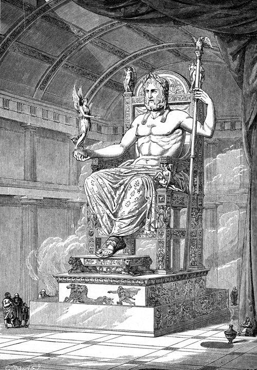 Zeus. Reconstrucción de la estatua crisoelefantina de Fidias en Olimpia