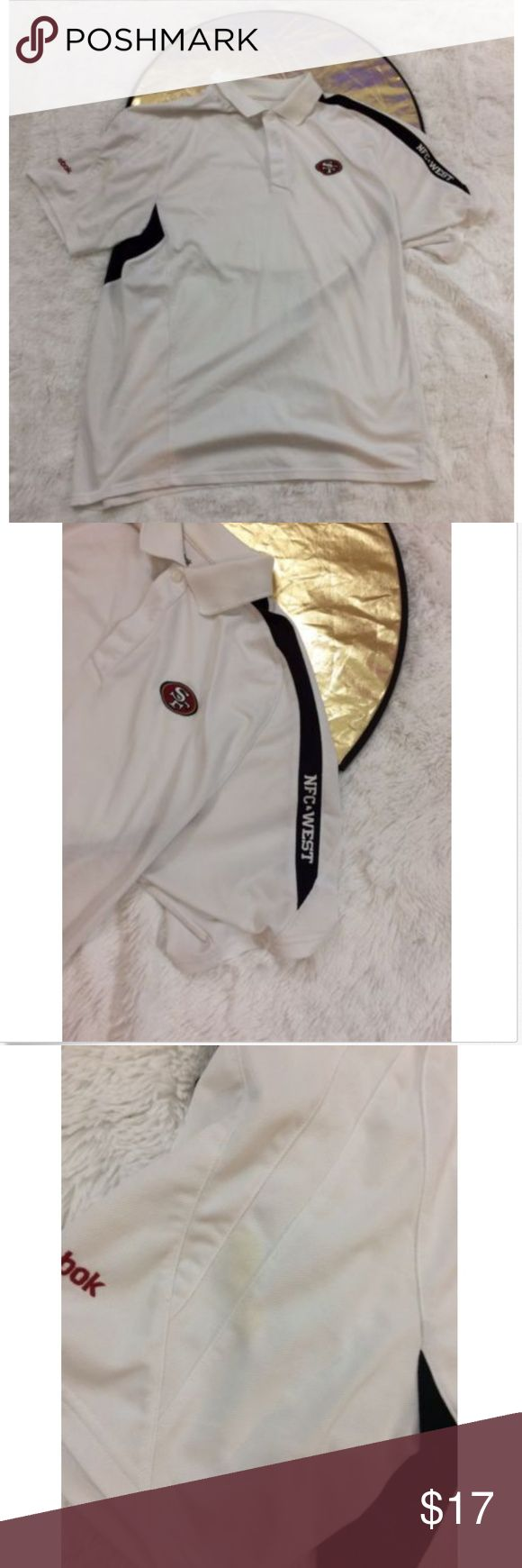 """Reebok San francisco 49ers polo shirt"""" Coach Appa Vintage Reebok San francisco 49ers polo shirt"""" Coach Apparel"""" Nfc West Stitched on the sleeve    Mens Adult size L  Pit-Pit-25  Please see pictures for full details  Ships fast and safe! Reebok Shirts Polos"""
