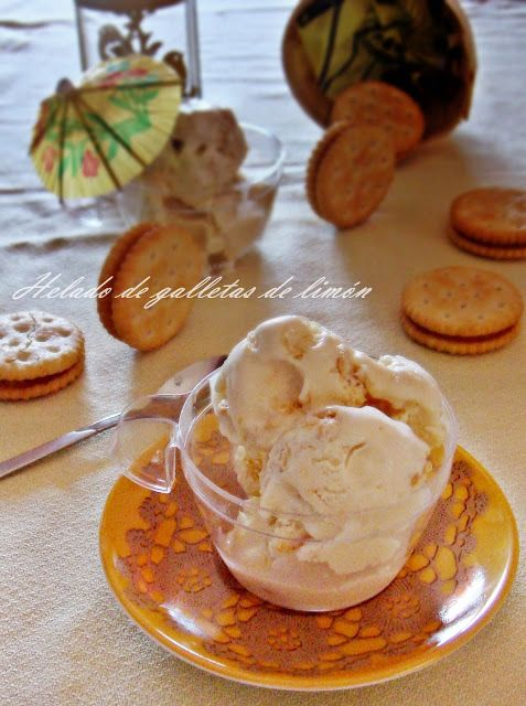 Unas Gotas de Imaginación: Helado de galletas de limón y resumen veraniego 2015