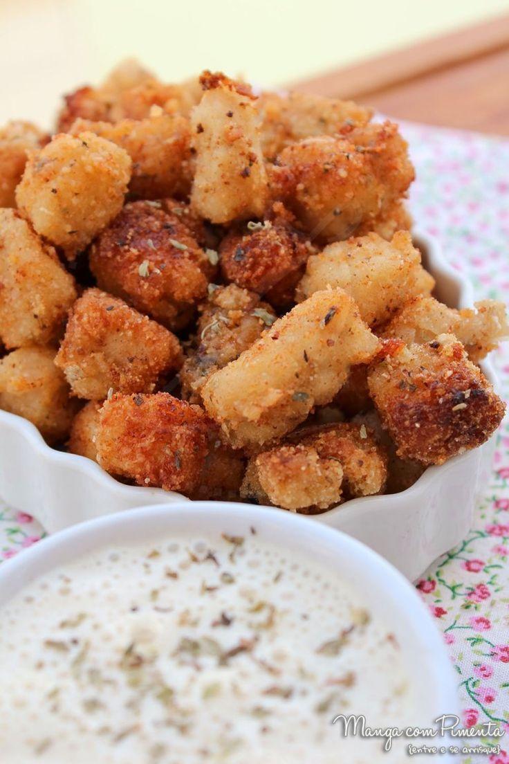 Popcorn Chicken – Receita Americana de Pipoca de Frango {Petiscos}. Para ver a receita, clique na imagem para ir ao Manga com Pimenta.