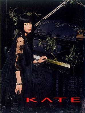 Mika Nakashima (Japanese Singer). KATE By Kanebo Cosmette. It leaflet.  Gothic Girl. Dark Image Beauty.