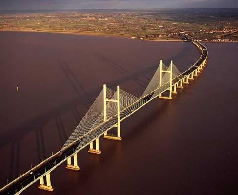 Severn Bridge, UK. Beautiful UK Bridges: http://www.europealacarte.co.uk/blog/2013/04/29/uk-bridges/