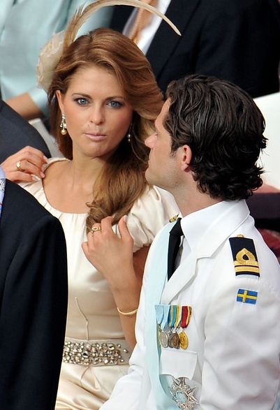 Princess Madeleine of Sweden and Prince Carl Philip of Sweden at the wedding of Prince Albert II and Princess Charlene of Monaco