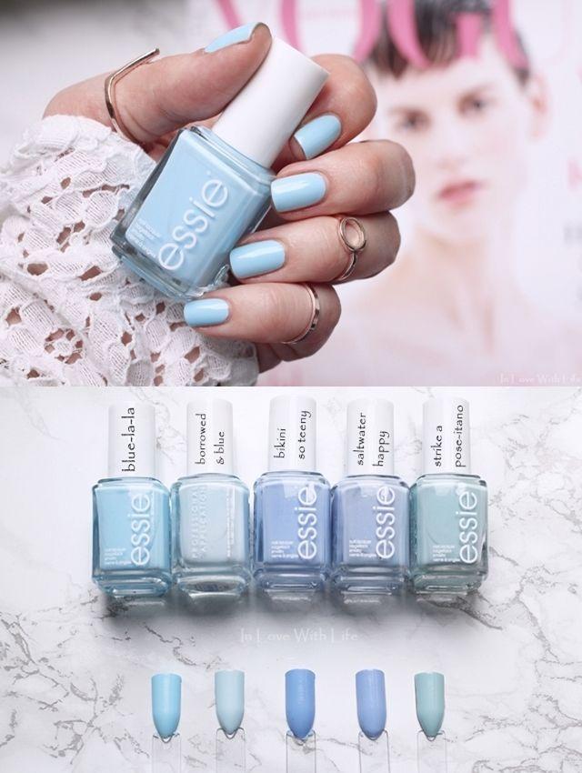 Essie Sommer 2017 blue-la-la | Vergleiche, Farbfelder | Vergleiche mit älteren … – Nails