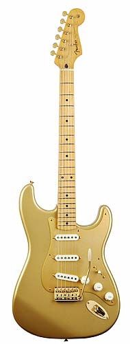 Fender Stratocaster Electric Guitar in Aztec Gold