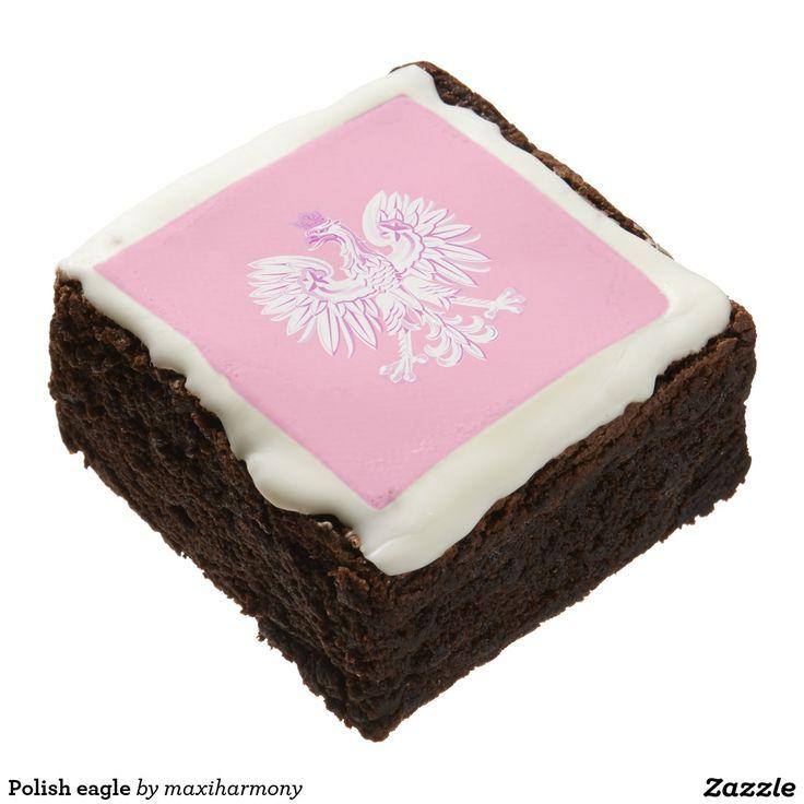 Polish eagle square brownie