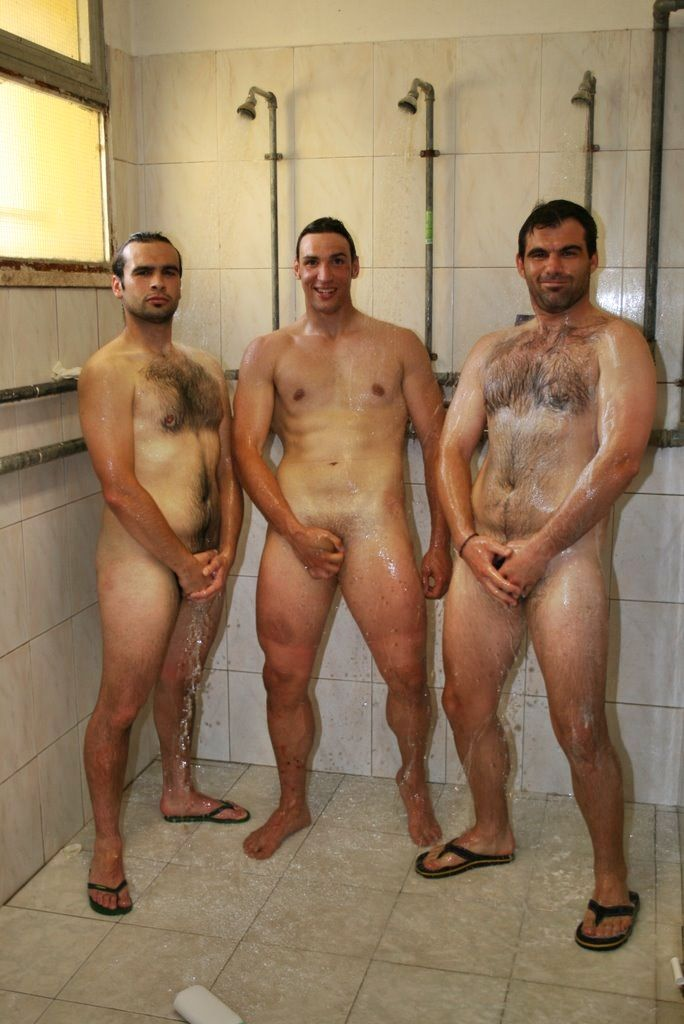 naked guys shower time