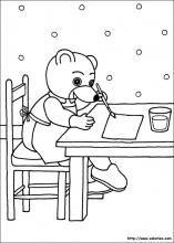 coloriages petit ours brun