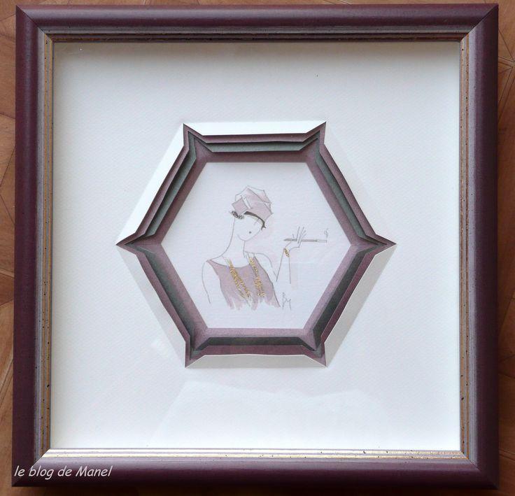Janine B. / élève de Manel / triple fenêtre ouverte hexagonale ( tech de Manel publiée dans IdC81)