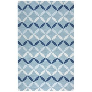 Shop for Arden Loft Easley Meadow Blue/ Grey Geometric Hand-tufted Wool Area Rug (10' x 14'). Get free shipping at Overstock.com - Your Online Home Decor Outlet Store! Get 5% in rewards with Club O! - 17622732