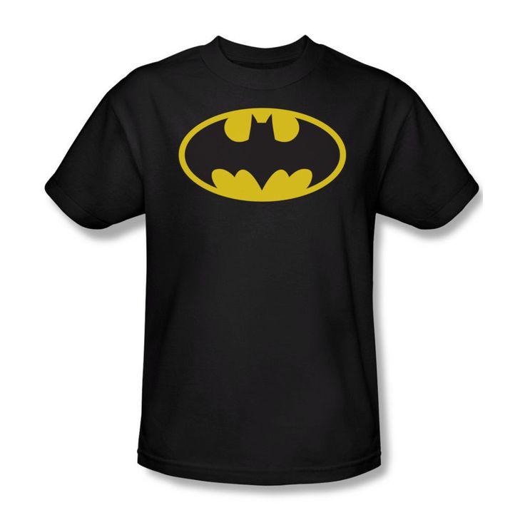 Batman Classic Shield Symbol Logo DC Comics JLA Youth Ladies Jr Men T-shirt  top