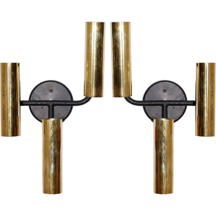 Painting Brass Wall Sconces : Boris Lacroix Wall Sconces-shoot with bulbs Painted metal, Lights and Wall sconces