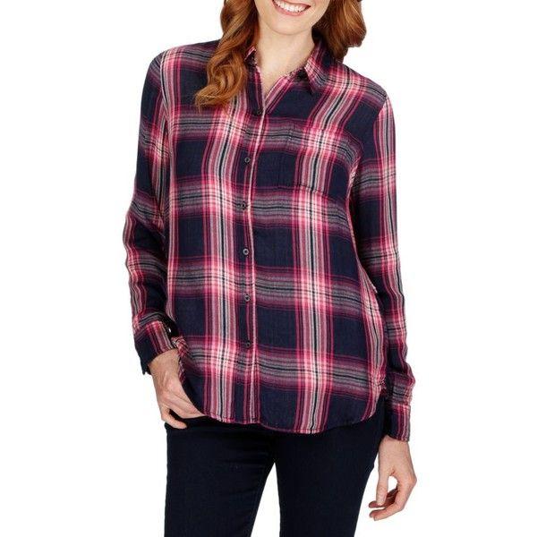 Duo Fold Plaid Shirt - Women's ($60) ❤ liked - Best 25+ Purple Plaid Shirt Ideas On Pinterest Purple Outfits