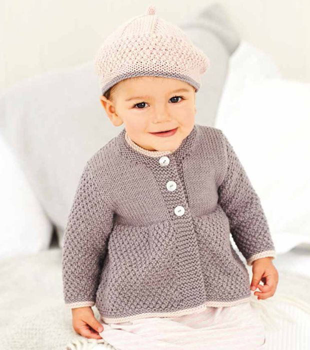 Autumn/Winter Trends 2015: Knitting - Coats and Berets baby knitting pattern by Rico - LoveKnitting blog
