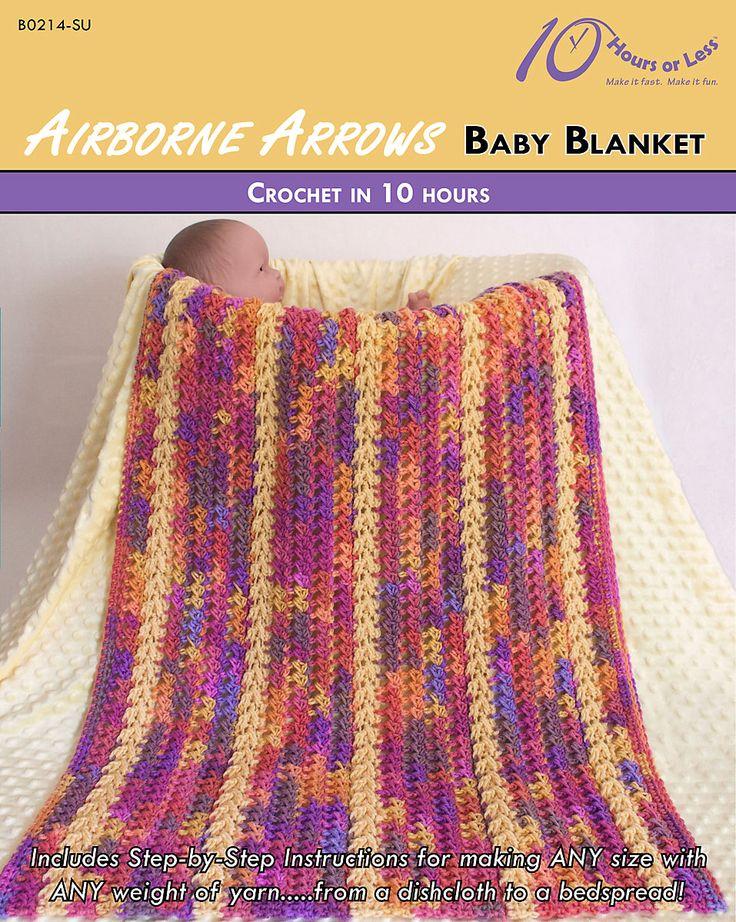 Airborne Arrows baby blanket in @redheartyarns Super Saver [crochet in 10 hours]