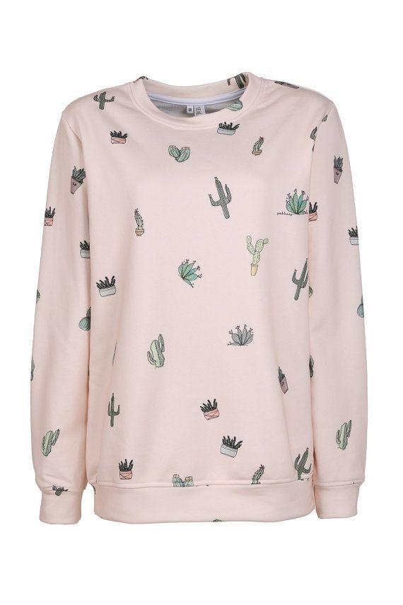 Sweatshirt Cactus Attack Yeah Bunny by YeahBunny on Etsy