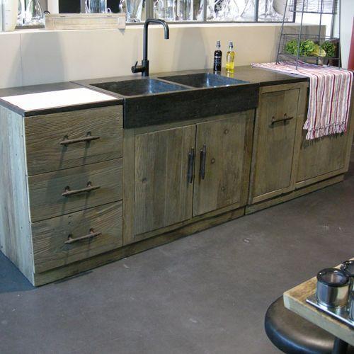 cuisine ou trouver des meubles independants en bois brut cuisine en bois pinterest kitchen home decor et outdoor sinks