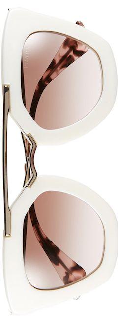 Prada 49mm Retro Sunglasses (Ivory): Spectacular Sunnies