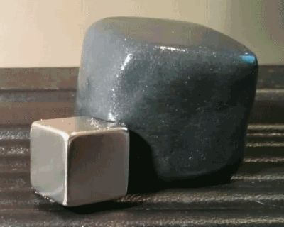 Oh Science! Animated GIF Of Magnetic Putty 'Eating' A Piece Of Metal Is Mesmerizing