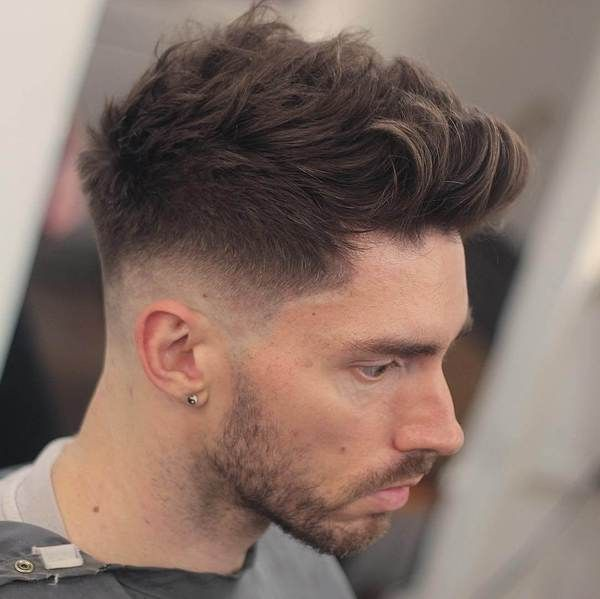 High Short Back Sides With Neat Side Brushed Top And Clean Shaven Thick Hair Styles Tapered Haircut Mens Hairstyles