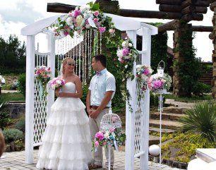 Выездная церемония в розовых тонах