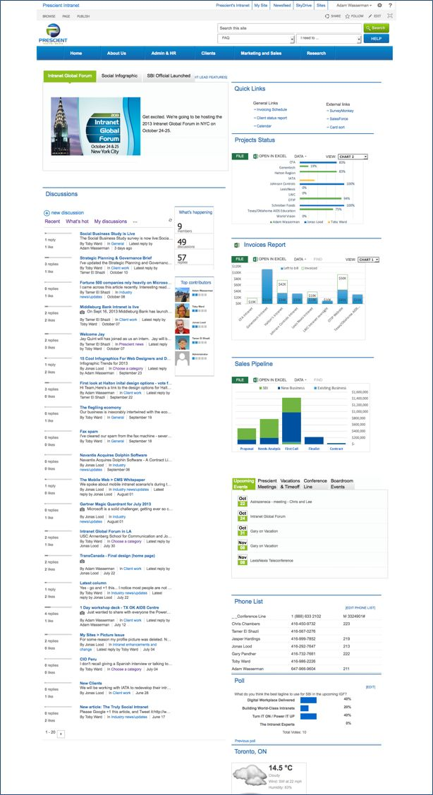 sharepoint 2013 for the social intranet intranet design intranet consultant social intranet - Intranet Design Ideas