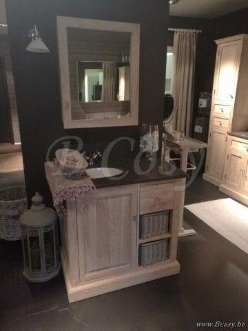 Lee&Lewis Bath Wastafel Wit 1 Persoon 90 Landelijke badkamer-Landelijk badkamermeubel