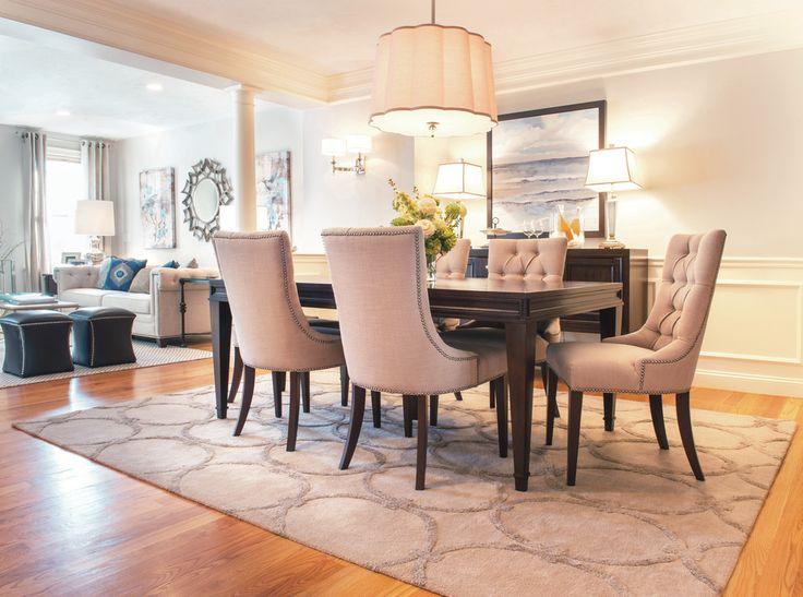 Hooker Furniture Dining Room Transitional With Area Rug Dark Wood Buffet  Dark Wood Dining Table Dark Wood Sideboard