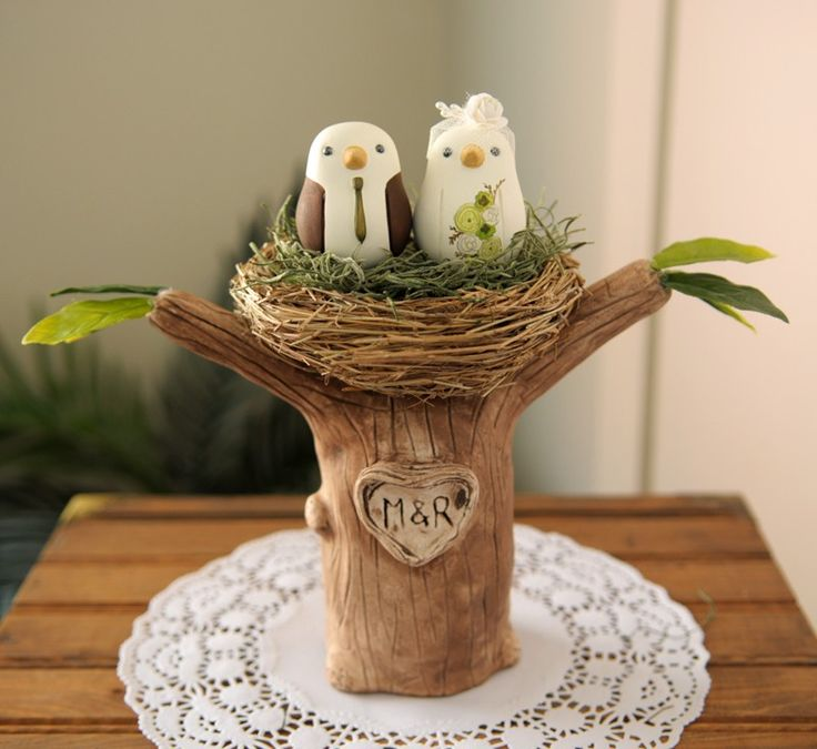Wedding Cake Topper - Love Birds with Tree and Nest - Small. $175.00, via Etsy.    http://www.etsy.com/listing/63047563/wedding-cake-topper-love-birds-with-tree?