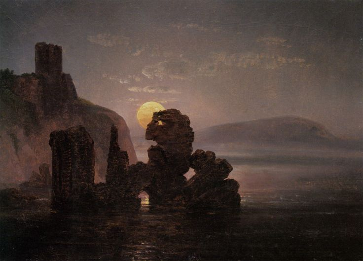 Ruiner Ved Baia by Johan Christian Clausen Dahl