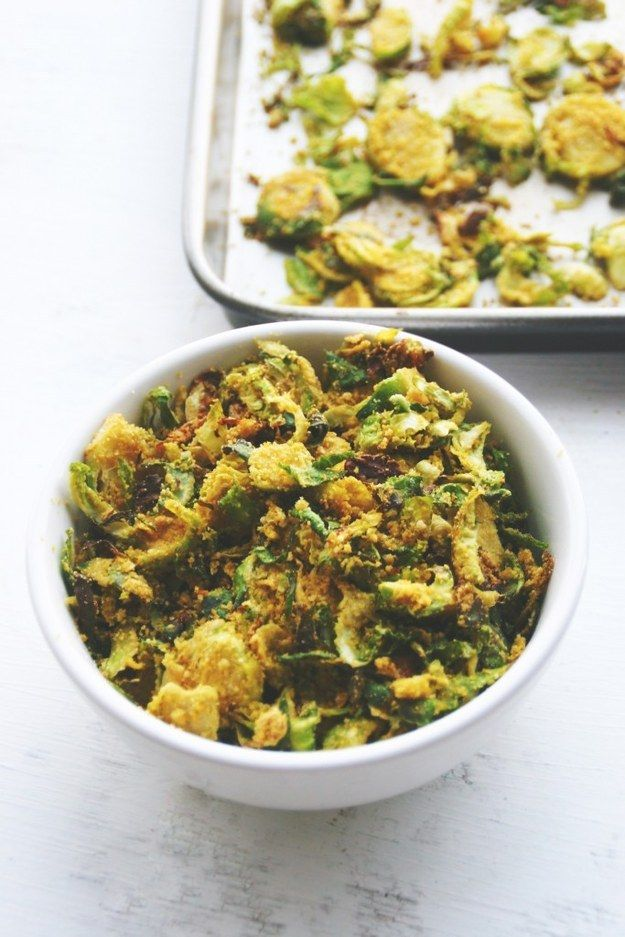 Cheesy Brussels Sprout Chips | 18 Delicious Homemade Chips That Are Actually Healthy