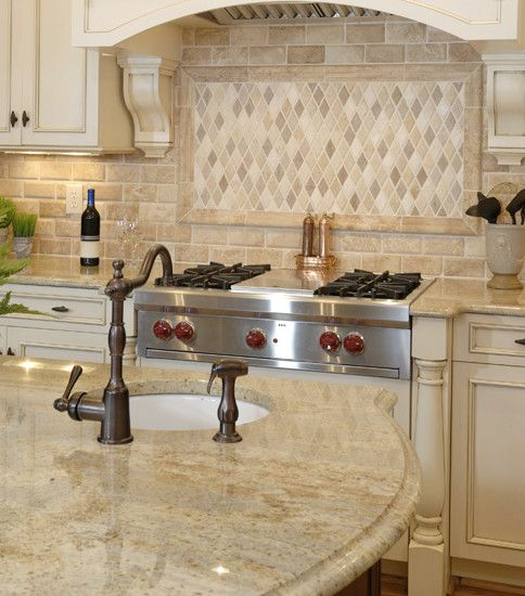 Countertops, Traditional Kitchen Design With Kashmir Gold Granite Countertops For Classic Kitchen Island And Kitchen Table Also Brown Classic Faucet And Mixer Tap Design Also Sink With Circle Shaped Also Stainless Cooker: Enchanting Kashmir Gold Granite Ideas