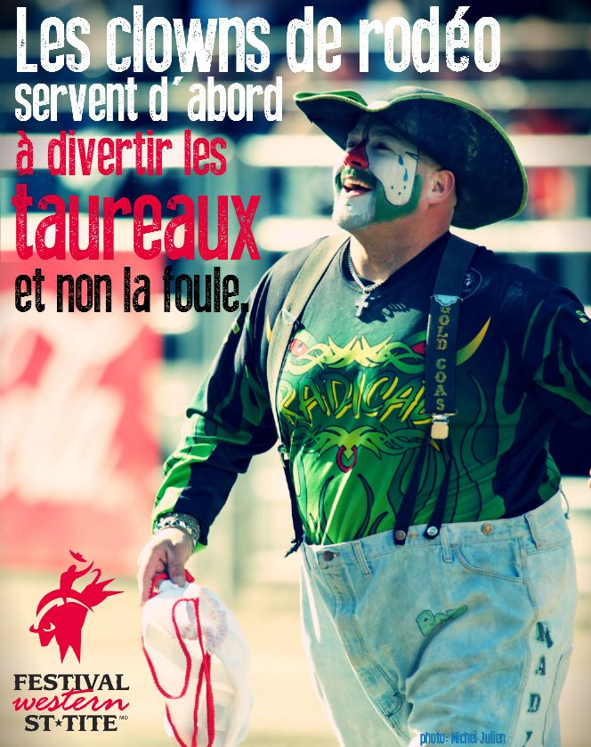 Rodeo clowns are intended to entertain the bulls and not the crowd first / Festival Western de St-Tite / #western #festival #mauricie #quebec #canada #country #clown #st-tite #rodeo #bull #bullriding #taureau