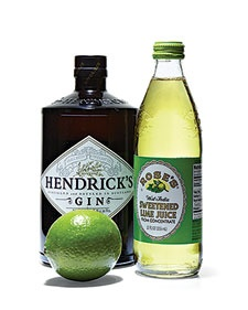 Gin Gimlet, only HENDRICK'S makes a perfect Gimlet: 4 oz gin, 1/2 oz fresh lime juice, 1 oz Rose's Lime Juice. Mix the ingredients in a rocks glass over ice, and garnish with a wedge of lime.