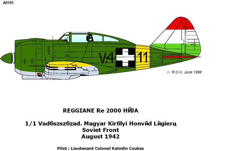 Reggiane Re.2000 Falco/Heja I/II - Hungary