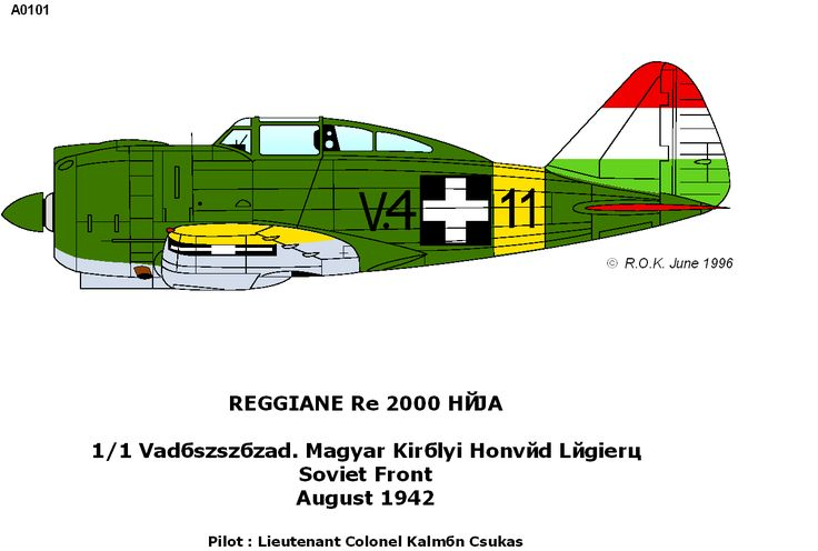 Reggiane Re.2000 Falco/Heja I/II - Hungary