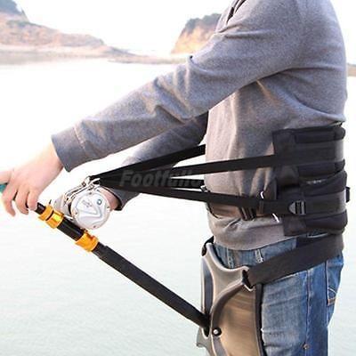 Sea Carp Fishing Fighting Waist Belt Rod Pole Holder Big Game Tackle Harness