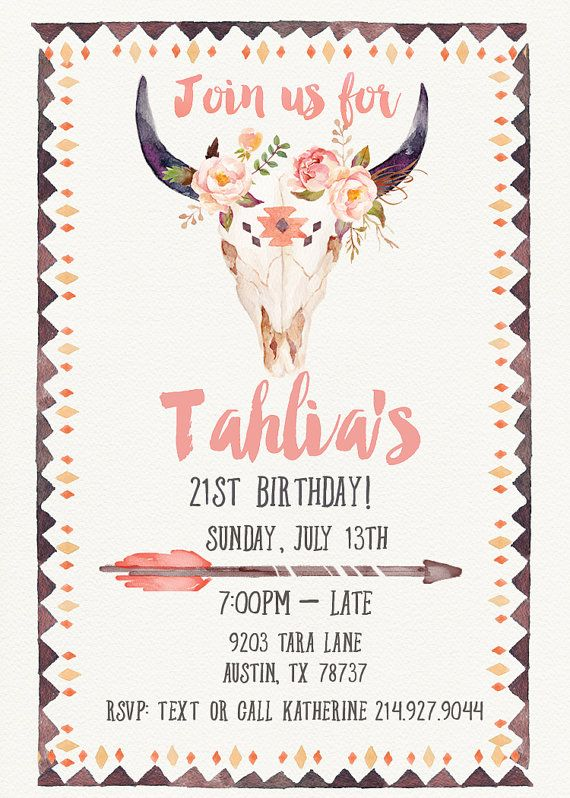 21St Invite Template with awesome invitations design