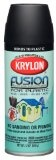 Krylon K02519000 Fusion For Plastic Aerosol Spray Paint, 12-Ounce, Flat Black