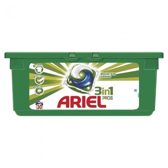 Капсулы для стирки Ariel Pods 3 in 1 Mountain Spring 30 шт Для Белого