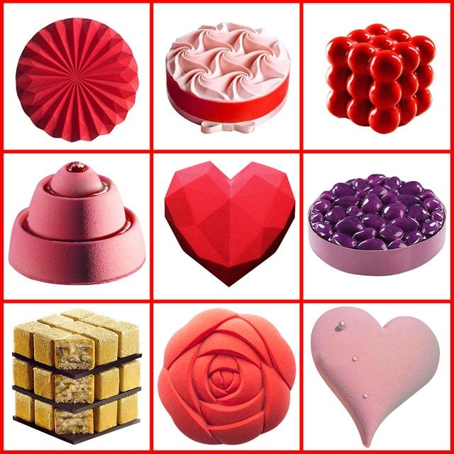 Heart shape Silicon Mold wedding Cake Decorating Tool Baking Mould DIY Craft