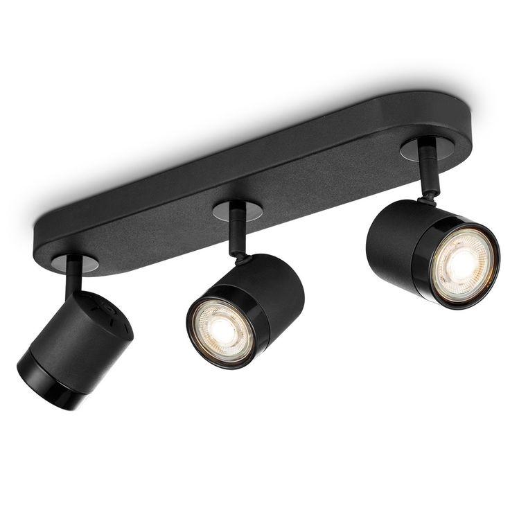 LED opbouwspot manu 3 lichts ↔ 39 cm zwart Zand zwart / zwart | Besselink licht