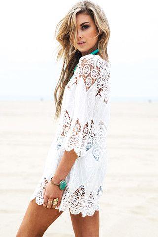 Asha Crochet Tunic Dress