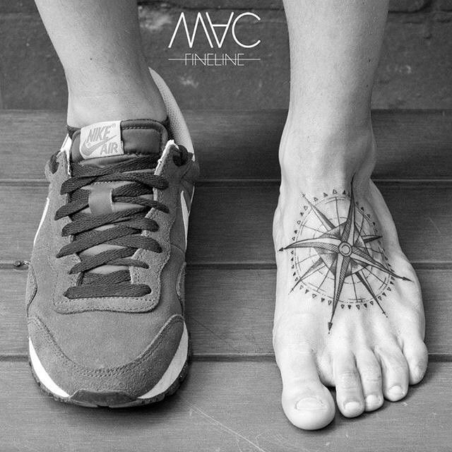 Best 25 mens compass tattoo ideas on pinterest mens for Mens foot tattoos