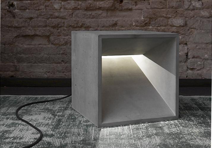 betonware, lichtWürfel, Betonleuchte, Licht, Leuchte, Lampe , foto: studio uwe gaertner