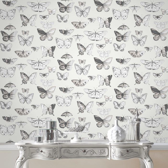 Butterflies Taupe / Cream Wallpaper by Graham and Brown