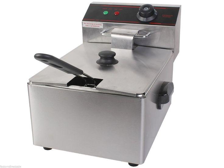 2500W Deep Fryer Electric Commercial Tabletop Restaurant w/ Basket Scoop Unit