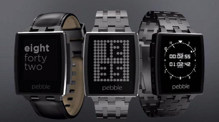 The Pebble Steel Smartwatch.